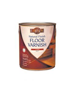Liberon Natural Finish Floor Varnish Clear Matt 2.5 Litre - LIBFVWNCM25L