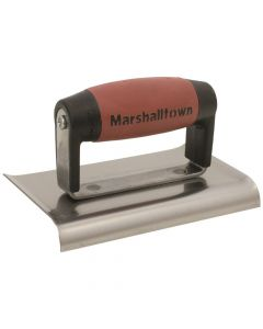 Marshalltown 6 X 3 Edger-Curved Ends - 3/8R, 1/2L DuraSoft Handle - M136D