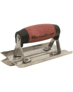Marshalltown 6 X 3 Stainless Steel  Groover - 1/2 X 1/2 Groove- DuraSoft Handle - M180D