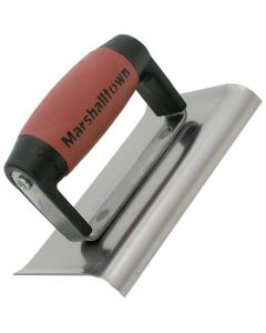 Marshalltown 6 X 4 Stainless Steel  Edger - Curved Ends 1/4R, 3/8L - DuraSoft Handle - M155SSD