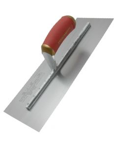 "Marshalltown Permashape Finishing Trowel 16"" x 4"" - Carbon Steel Blade - Durasoft Handle - MPB66D"