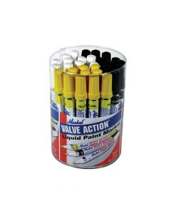 Markal Valve Action Paint Markers (Tub of 24) - MKL96080