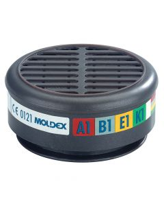 Moldex ABEK1 Gas Filter For 8000 Half Mask (Wrap of 2) - MOL890001