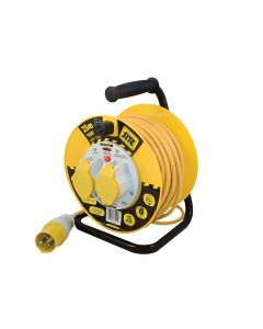 Masterplug Cable Reel 25 Metre 16A 110 Volt Thermal Cut-Out - MSTLVCT25162