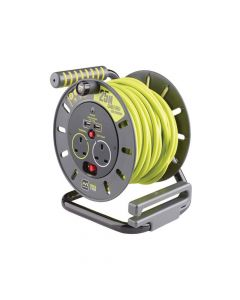 Masterplug PRO-XT Open Cable Reel 25m 13A 2 Socket & 2 USB - MSTOMU25132