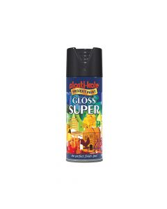 PlastiKote Super Gloss Spray Black 400ml - PKT1100