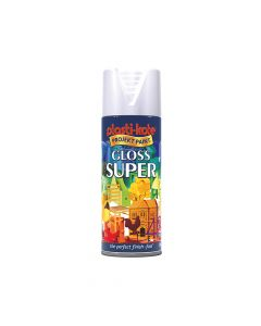 PlastiKote Super Gloss Spray White 400ml - PKT1109