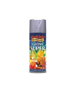 PlastiKote Super Gloss Spray Aluminium 400ml - PKT1149