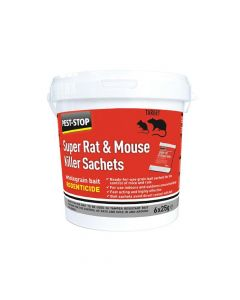 Pest-Stop Systems Super Rat & Mouse Killer Sachets (Tub of 6) - PRCPSSA05