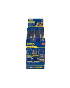 IRWIN 12 & 18in One Handed Bar Clamp Display With Accessories - Q/GND117