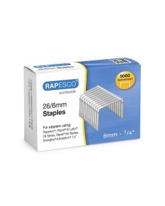 Rapesco 26/6mm Galvanised Staples - S11662Z3
