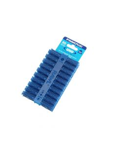 Blue Uno Plugs 8mm x 32mm Card of 80