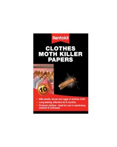 Rentokil Clothes Moth Papers Pack of 10 - RKLFA115