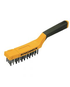 Roughneck Carbon Steel Wire Brush Soft Grip 300mm (12in) - 4 Row - ROU52040