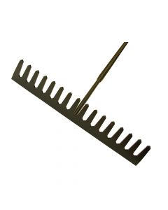 Roughneck Asphalt Rake 16 Flat Teeth - Tubular Steel Shaft Handled - ROU68510