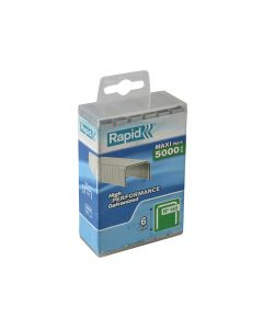 Rapid 6mm Galvanised Staples Poly Pack 5000 - RPD1406PP