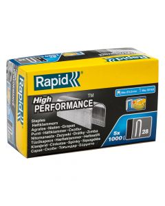 Rapid 10mm DP x 5m Galvanised Staples Box 5 x 1000 - RPD2810G
