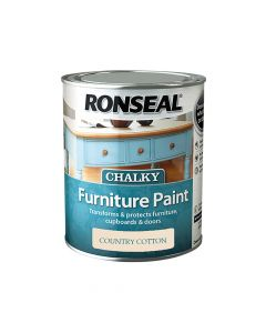 Ronseal Chalky Furniture Paint Country Cotton 750ml - RSLCFPCC750