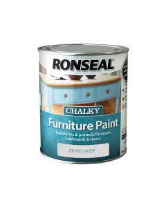 Ronseal Chalky Furniture Paint Dove Grey 750ml - RSLCFPDG750