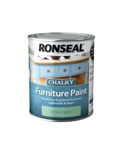 Ronseal Chalky Furniture Paint Dusky Mint 750ml - RSLCFPDM750