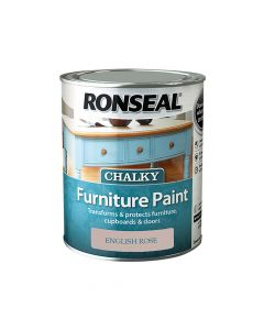 Ronseal Chalky Furniture Paint English Rose 750ml - RSLCFPER750