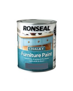 Ronseal Chalky Furniture Paint Midnight Blue 750ml - RSLCFPMB750