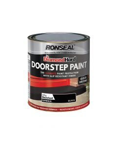 Ronseal Diamond Hard Doorstep Paint Black 250ml - RSLDHDSPB250