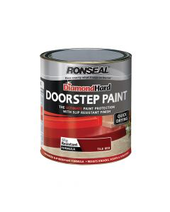 Ronseal Diamond Hard Doorstep Paint Red 250ml - RSLDHDSPR250