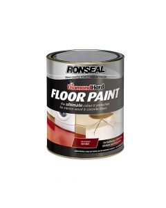 Ronseal Diamond Hard Floor Paint Tile Red 5 Litre - RSLDHFPTR5L