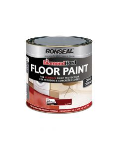 Ronseal Diamond Hard Floor Paint Tile Red 2.5 Litre - RSLDHFPTR25L