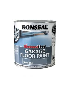 Ronseal Diamond Hard Garage Floor Paint Steel Blue 2.5 Litre - RSLDHGFPB25L