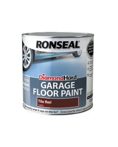 Ronseal Diamond Hard Garage Floor Paint Tile Red 2.5 Litre - RSLDHGFPR25L