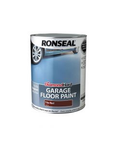 Ronseal Diamond Hard Garage Floor Paint Tile Red 5 Litre - RSLDHGFPTR5L