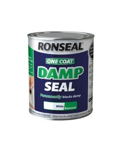 Ronseal One Coat Damp Seal White 2.5 Litre - RSLOCDSW25L