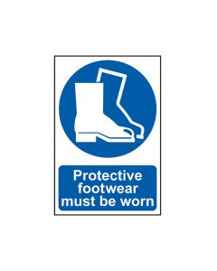 Scan Protective Footwear Must Be Worn - PVC 200 x 300mm - SCA0016