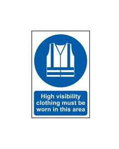 Scan High Visibility Jackets Must Be Worn In This Area - PVC 200 x 300mm - SCA0022