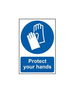 Scan Protect Your Hands - PVC 200 x 300mm - SCA0023