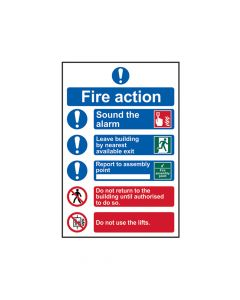 Scan Fire Action Procedure - PVC 200 x 300mm (point of assembly) - SCA0178