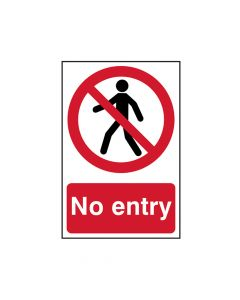 Scan No Entry - PVC 200 x 300mm - SCA0600