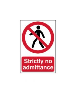 Scan Strictly No Admittance - PVC 200 x 300mm - SCA0608