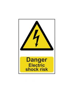 Scan Danger Electric Shock Risk - PVC 200 x 300mm - SCA0750