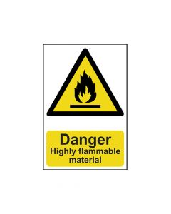 Scan Danger Highly Flammable Material - PVC 200 x 300mm - SCA0901