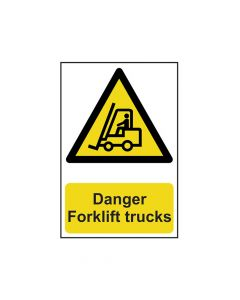 Scan Danger Forklift Trucks - PVC 200 x 300mm - SCA0954