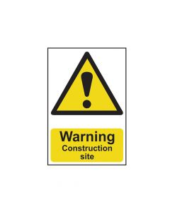 Scan Warning Construction Site - PVC 200 x 300mm - SCA0958