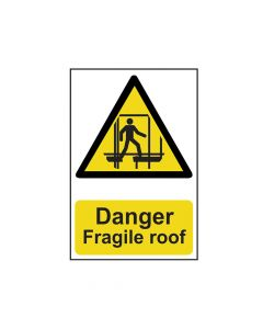 Scan Danger Fragile Roof - PVC 200 x 300mm - SCA1104