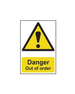 Scan Danger Out Of Order - PVC 200 x 300mm - SCA1302