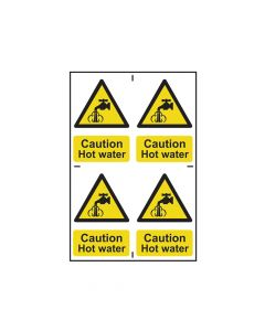 Scan Caution Hot Water - PVC 200 x 300mm - SCA1309