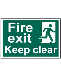 Scan Fire Exit Keep Clear - PVC 300 x 200mm 1513 - SCA1513