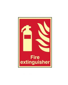 Scan Fire Extinguisher Photoluminescent - 200 x 300mm - SCA1571