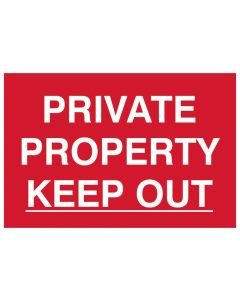 Scan Private Property Keep Out - PVC 300 x 200mm - SCA1652